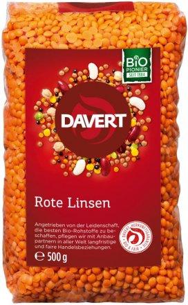 Rote Linsen - Bio - 500g - Davert
