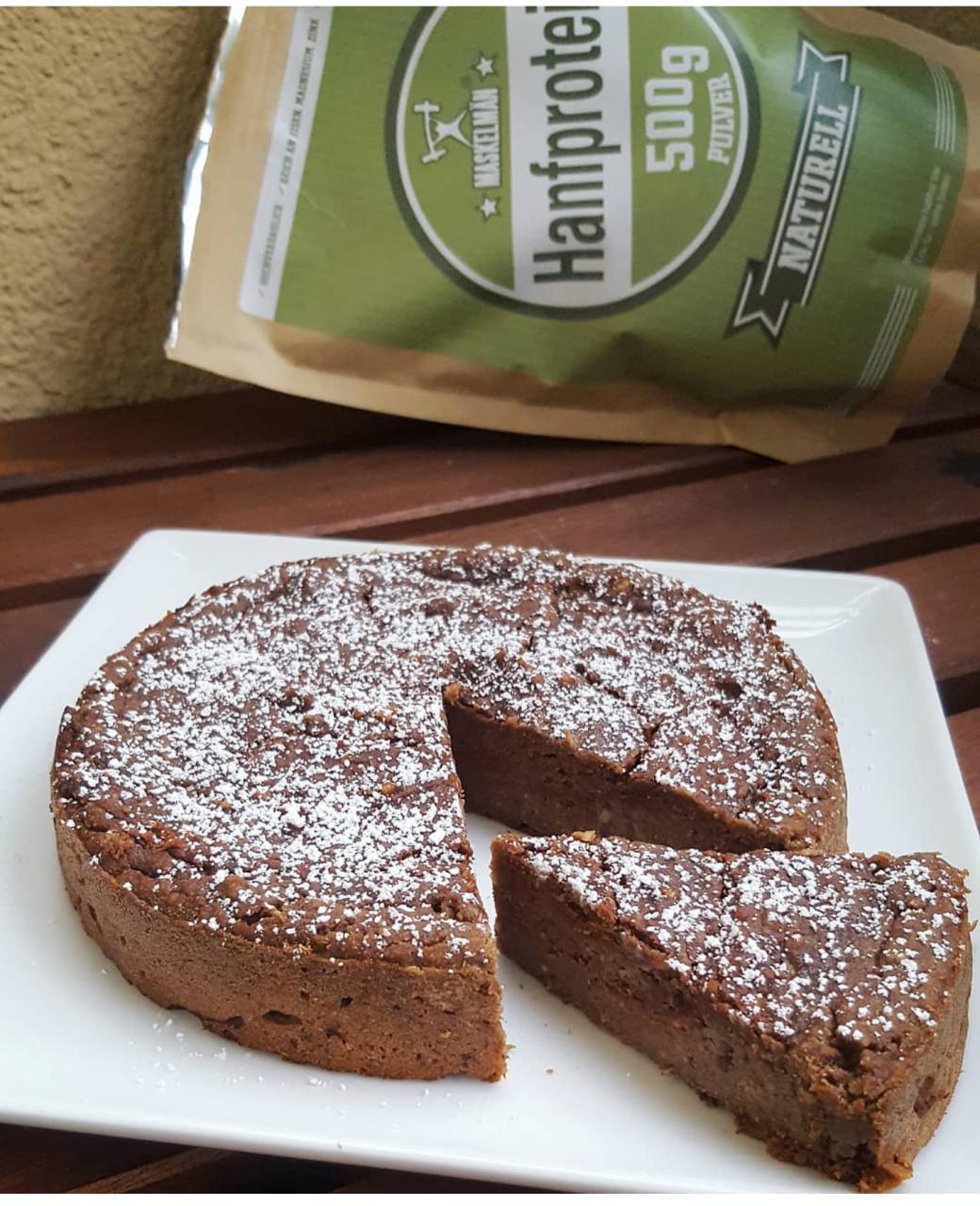 Hanfprotein-Kuchen