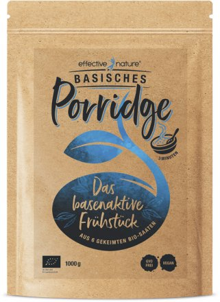 Basisches Porridge aus 6 gekeimten Bio-Saaten