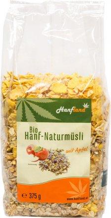 Hanf-Naturmüsli mit Apfel - Bio - 375g