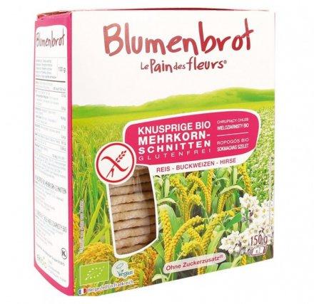 Glutenfreies Bio-Mehrkornbrot aus Reismehl - mit Buchweizen und Hirse