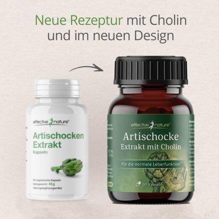 Artischocken Extrakt & Cholin Kapseln - 90 Stk. - 37g