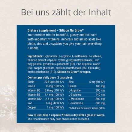 Silizium Nu Grow Kapseln - beste Nährstoffe für Ihr Haar