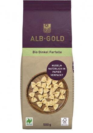 Farfalle Dinkel Papierverpackung - Alb-Gold - Bio - 500g