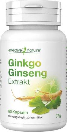 Gingko- und Ginseng Extrakt Kapseln - 60 Stk. - 37g