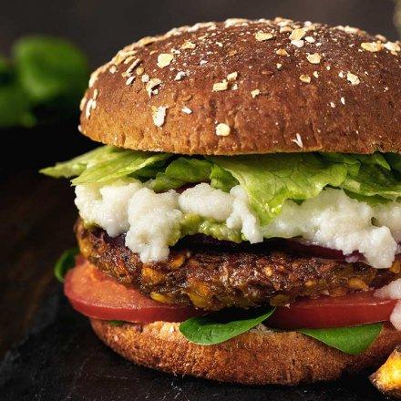 Linsen Curry Burger - nur mit natürlichen Zutaten