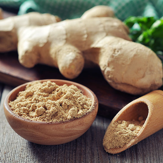 Bowl of graded ginger