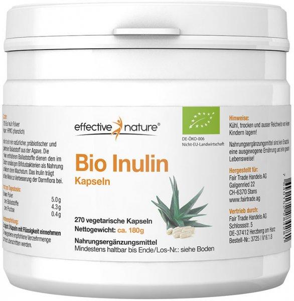 Inulin Kapseln - Bio - 270 Stk. - 180g