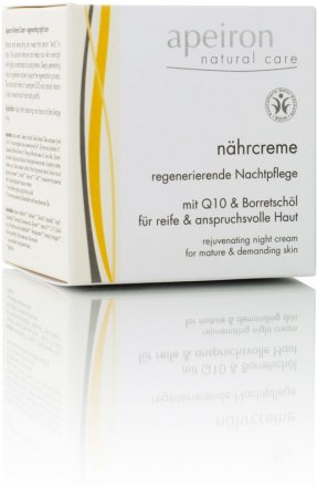Nährcreme - regenerierende Nachtpflege mit Q10 & Borretschöl - 50ml