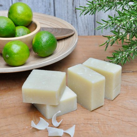 Festes Shampoo – Ingwer mit Rosmarin- und Limettenöl