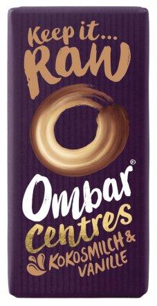 Ombar Centres Kokosmilch & Vanille - Rohschokolade für gesundes Naschen