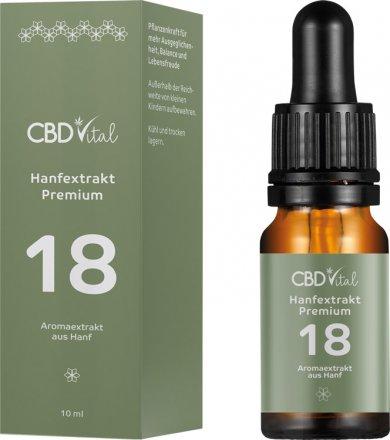 Hanfextrakt Premium - Aromaextrakt 18% - 10ml