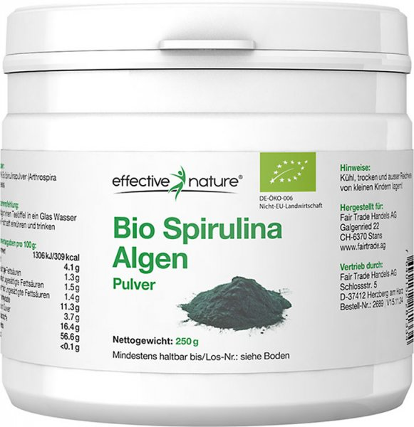 Spirulina Algen Pulver - Bio - 250g