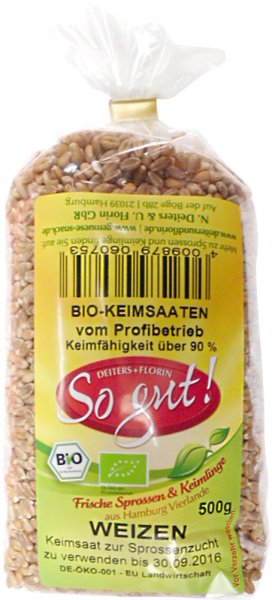 Weizen Keimsaat - Bio - 500g