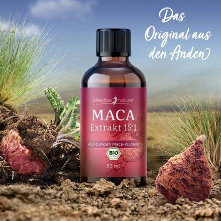 Flüssiger Maca-Extrakt in Bio-Qualität