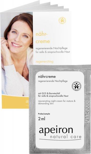 Nährcreme - regenerierende Nachtpflege mit Q10 & Borretschöl - Tester - 2ml