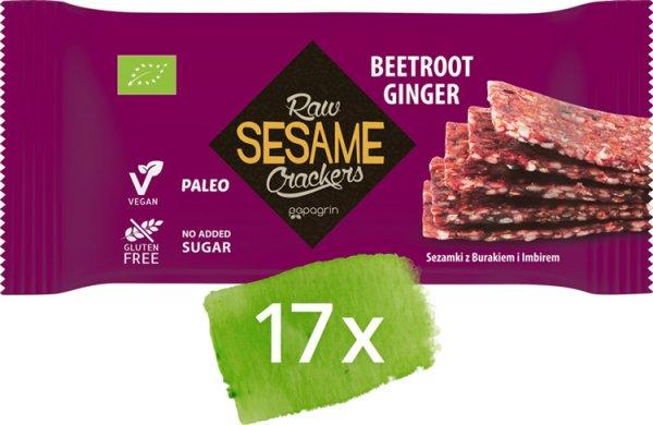 Sesam Cracker Rote Bete-Ingwer - Bio - 17 Stück