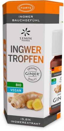 Bio Ingwer Tropfen mit kraftvollen Ingwerwurzel-Extrakten