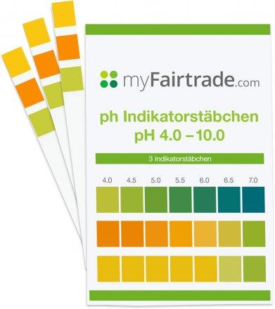 PH-Teststreifen mit Farbtabelle - 3 Stk.
