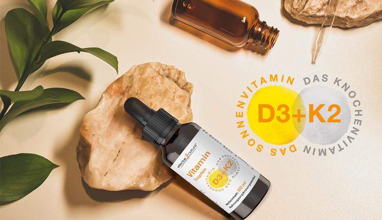 Vitamin D3 und K2 Tropfen hochdosiert