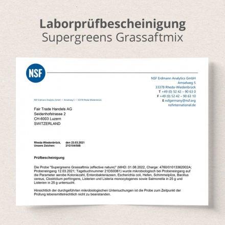 Supergreens Gerstengrassaft-Mix – mit 5 Getreidegräsern