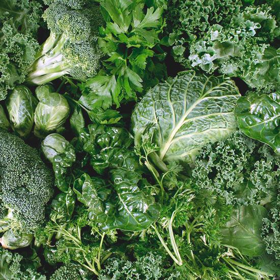 Grünes Gemüse - Vitamin-K-Quelle