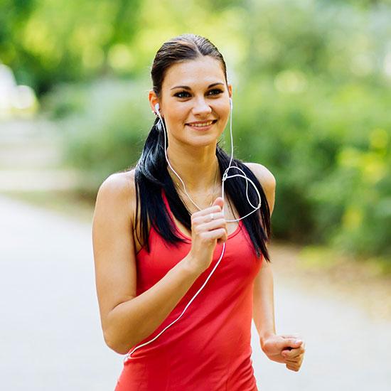Athletic women running