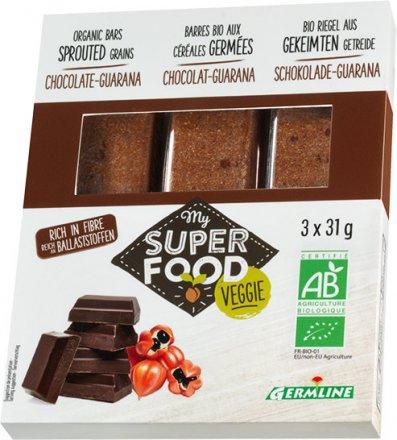 Gekeimte Müsliriegel - Schokolade und Guarana - Bio - 3 x 31g