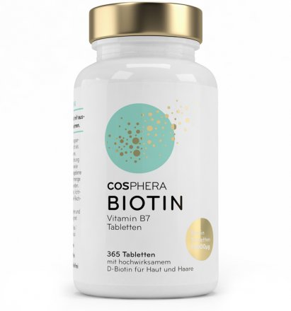 Biotin Tabletten - Cosphera - 365 Stk. - 91g