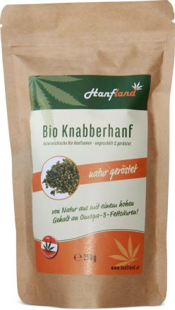 Knabberhanf natur - geröstet - Bio - 250g