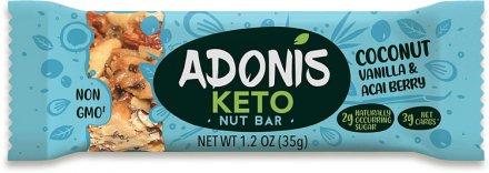 Adonis Low Sugar Riegel Kokosnuss, Vanille, Acaibeere - 33.7g