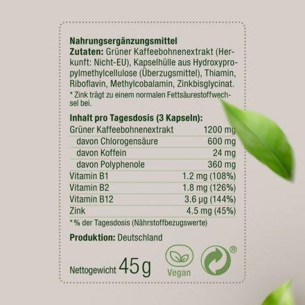 Grüner Kaffeebohnen Extrakt Kapseln Slimsalabim – 90 Stk. + Broschüre