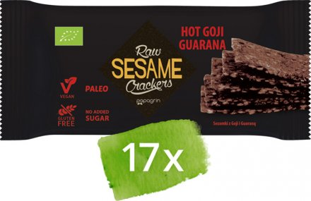 Sesam Cracker Hot Goji-Guarana - Bio - 17 Stück