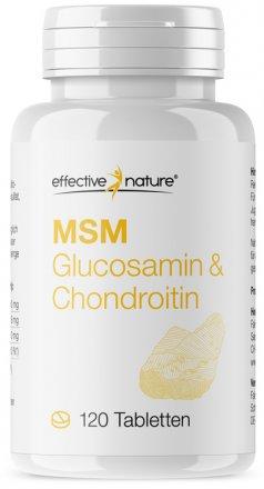 MSM natürlicher Schwefel Tabletten mit Chondroitin & Glucosamin - 120 Stk. - 107g