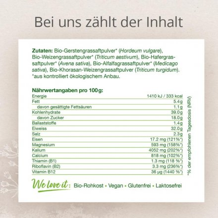 Supergreens Gerstengrassaft-Mix – mit 5 Getreidegräsern