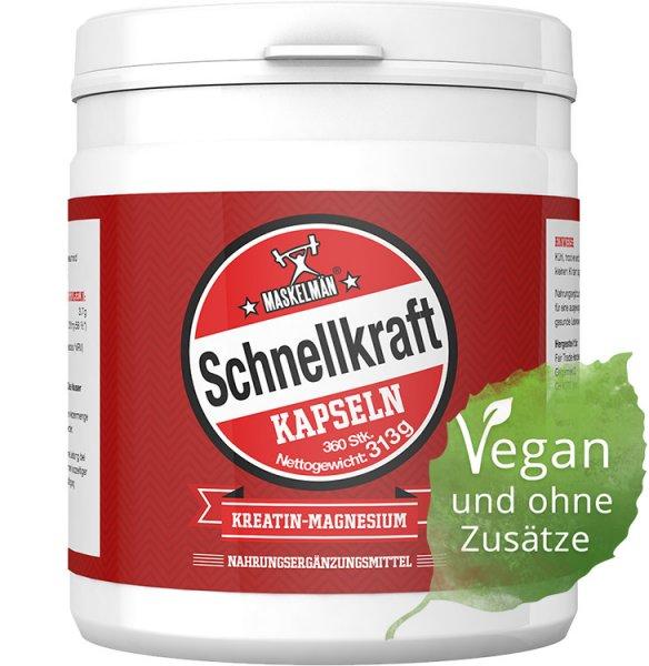Schnellkraft - Kreatin-Magnesium-Chelat Kapseln - 360 Stk. - 313g