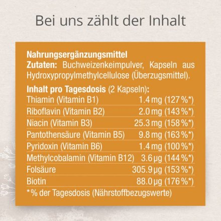 Vitamin-B-Komplex - Buchweizenkeim Kapseln