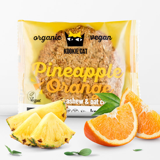 Kookie Cat Ananas-Orange