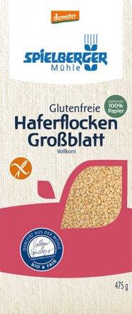Haferflocken Großblatt glutenfrei demeter - Spielberger - Bio - 475g