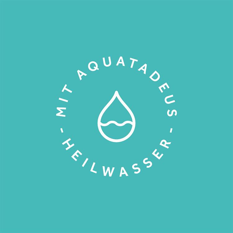 Logo mit Aquatadeus Heilwasser