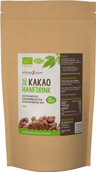 Hanf-Schokoladen-Drink - 25% Protein - Bio - 500g