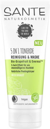 5-in-1 Tonerde Reinigung & Maske