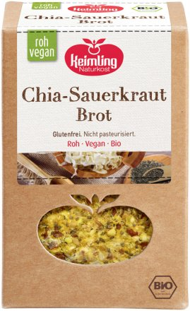 Chia-Sauerkraut-Brot in Bio Qualität