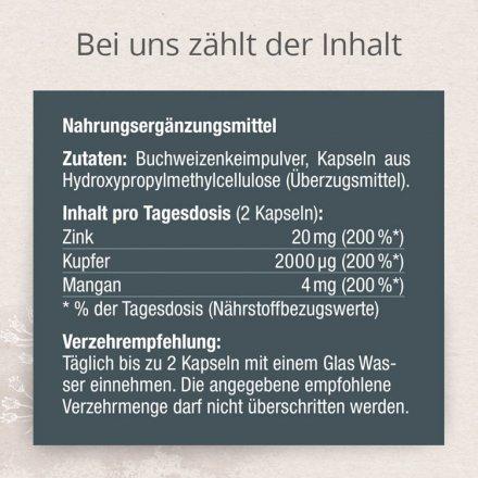 Mineralstoffkomplex Zink, Kupfer, Mangan