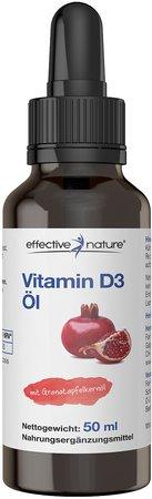 Vitamin D3-Öl mit Granatapfelkernöl - 50 ml