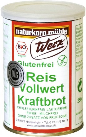 Reis-Vollwert-Kraftbrot - Bio - 250g