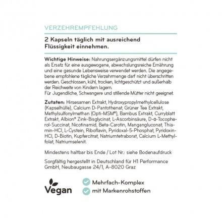 Hochdosierter Haar Vitamin Komplex mit Biotin, Zink und Selen