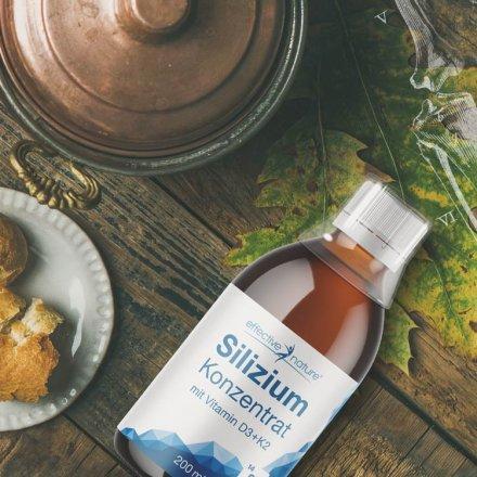 Silizium - Konzentrat mit Vitamin D3 + K2