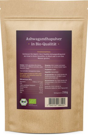 Ashwagandha Pulver - Bio - 250g