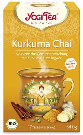 Kurkuma Chai Tee - ideal als goldene Milch zu geniessen